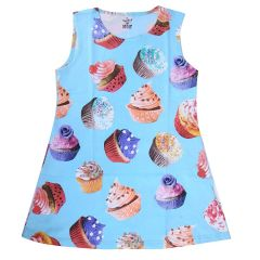 Chocoberry Girls' Knee Length Dress Printed Ice