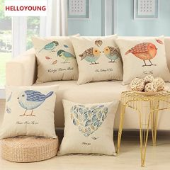 Tanishkam Décor Jute Digital Printing Ultimate Home Cushion Covers Set of 5 (16x16)