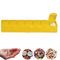 7 Days Pill Box with 7 Compartments (Pack of 1)