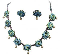 Hydes Classy Terracotta Necklace Set for Girls | Women | Ladies Completely Organic Colors Soft on Skin (080)