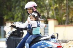 Kidsafe Two Wheeler Child Safety Seat Belt, Sport Sky Blue