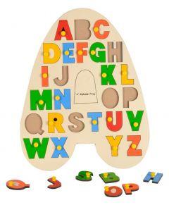 MohitEnterprises | Toddler Toys A Alphabet Wooden Tray | Pack of 1