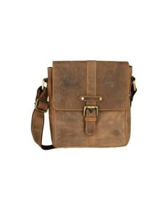 ASPENLEATHER Messenger Bag In Genuine Crunch Leather