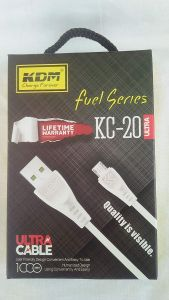 KDM Fast Charging Data with Fast Data Transfer Cable KC-20 (Ultra) Fuel Series