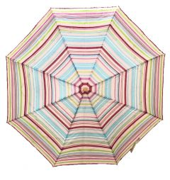 REAL STAR Stripes Multi Colour Premium Folding Umbrella use for Women, Men and Kids with UV Protection