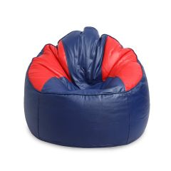 VSK Bean Bag Sofa Mudda Cover XXXL (Without Beans) - Navy & Red