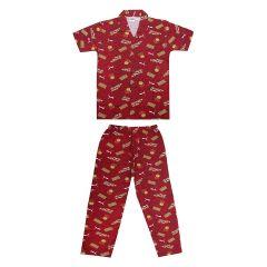 Brand: Bonnitoo Hydes Boys Kids Night Suit Super Soft Set| Night Suit Full Pant Half Sleeve | Nightwear Cotton Set for Boys