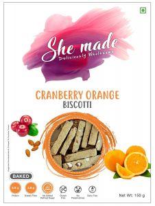 She Made Cranberry Orange Biscotti (Pack of 2)-150gm*2