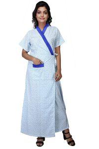 Babydoll Women's Cotton House Coat Nighty (Clo_Nig_5087 | White | X-Large)