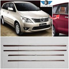 Speed 99~RPM Chrome Stainless Steel Lower Window Garnish For Toyota Innova Complete Set Of 4 Pcs Exterior Accessories Extra Premium