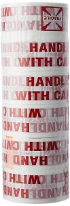 Won World of needs (Handle with Care Fragile Tape Printed) 65 Meter - Handle with Care, (Pack of 6)