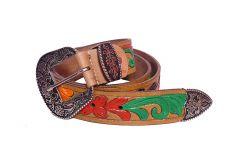 Kashan's Leather Designer Belt for Men Casual for Mens & Boys - Brown