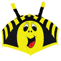 REAL STAR Cartoon 3D POP UP Umbrella for Kid's/Boy's/Girl's with Easy Grip Handle and Whistle (Bee)