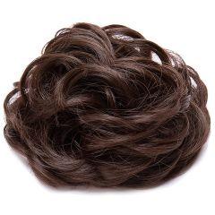 Akashkrishna Synthetic Hair Bun Extension Messy Juda Extension Brown (Set Of 2)