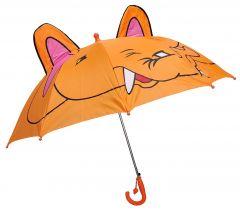 REAL STAR Cartoon 3D POP UP Umbrella for Kid's/Boy's/Girl's with Easy Grip Handle (Elephant)
