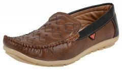 Hillsvog Stylish Men's Loafers (Brown)