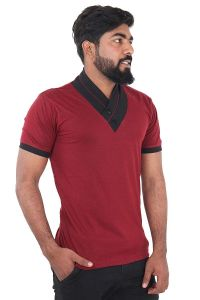 Fashion Gallery Men's Cotton T-shirt|Half Sleeve T-shirts for Men|Solid Slim Fit T-shirt