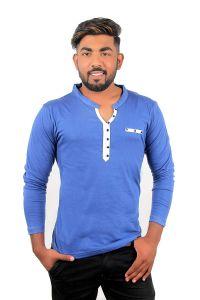 Fashion Gallery Tshirts for Men|Full Sleeve Henley Tshirts|Men's Regular Fit Cotton Tshirt