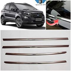 Speed 99~RPM Chrome Stainless Steel Lower Window Garnish For Ford EcoSport Complete Set Of 4 Pcs Exterior Accessories