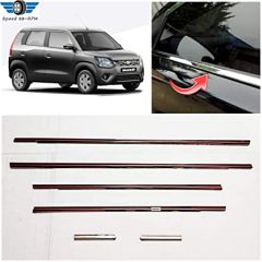 Speed 99~RPM Chrome Stainless Steel Iower Window Garnish For Maruti WAGONR Complete Set Of 6pcs Exterior Accessories Extra Premium
