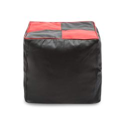 VSK Footstool Bean Bag Cover 2XL (Without Beans) - Red & Black