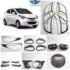 Speed 99~RPM Chrome Combo Smart Kit For Hyundai EON Complete Set Of 17pcs 7Items Exterior Accessories Extra Premium