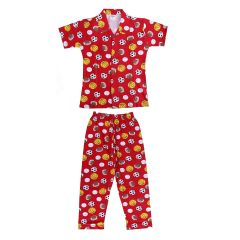 Cotton Night Suit For Boys Kids Brand: Bonnitoo Hydes | Color: Red