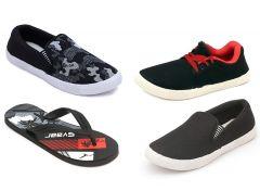 NEXA Fashion Combo of 3 Pairs Shoes + 1 Flip Flops - (4 Pairs)