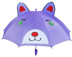 REAL STAR Cartoon 3D POP UP Umbrella for Kid's/Boy's/Girl's with Whistle and Easy Grip Handle (Bear)