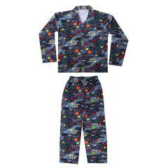 Bonnitoo Hydes Self Printed Boys Kids Night Suit Super Soft Nightwear Full Sleeve Set for Boys