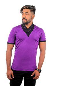 Fashion Gallery Tshirts for Men|V-Neck Half Sleeve Tshirts|Men's Regular Fit Cotton Tshirt