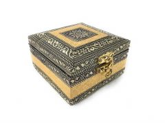 Navrang Handmade Oxidized Handicraft Wooden Jewellery Box for Women