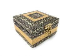 JANKISILKMILL Navrang Handmade Oxidized Handicraft Wooden Jewellery Box For Women