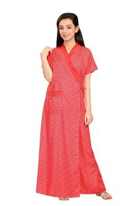 Babydoll Women's Ladies Housecoat House Coat Lounge Coat Robe Indian Nighty Night Gown Nightwear Sleepwear Clo_Nig_5065.1 |Size L