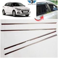 Speed 99~RPM Chrome Stainless Steel Lower Window Garnish For Hyundai Elite i20 Complete Set Of 4 Pcs Exterior Accessories Premium