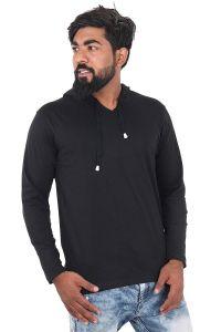Fashion Gallery Men's Cotton Tshirt|Full Sleeve Tshirts for Men|Solid Slim Fit Tshirt