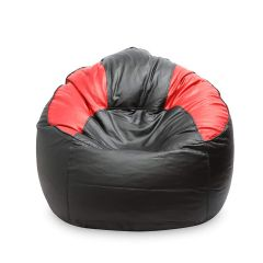 VSK Bean Bag Sofa Mudda Cover XXXL 35*35*15 Inch (Without Beans) - Red & Black