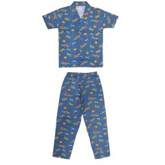Bonnitoo Hydes Boys Kids Night Suit Super Soft Cotton Nightwear Suit Half Sleeves