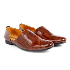 Bxxy Men's Formal Pu Leather Loafer & Moccasins Shoes | Style: 617 | Brown