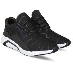 Men's Fashion Cotton & Casual Suitable Solid Shoes Black/White