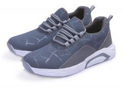 Men's Fashion Cotton & Casual Suitable Solid Shoes Blue