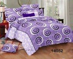 Hydes 100% Pure Cotton Bedsheet with 2 Pillow Covers - Super King Size 7.5 Feet by 9 Feet 186 TC for Double Bed Sheet Purple
