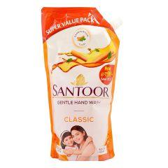 Santoor Gentle for Your Beautiful Glowing Skin Handwash Classic Essential Oils for Unisex (750 ml) | (Pack of 1)