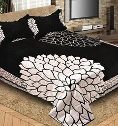Fabric Empire Velvet Bedsheet and 2 Cushion Cover Premium Quality for King Size (90 x 100 Inch)