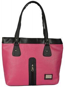 VSK Women's Shoulder Bag - Pink & Black
