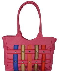 VSK Women's Zip Canvas Handbag Multi-Colored
