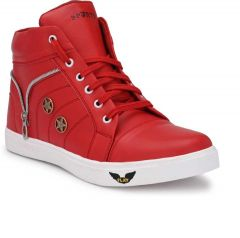 Men's Fashion Cotton & Casual Suitable Solid Shoes Red