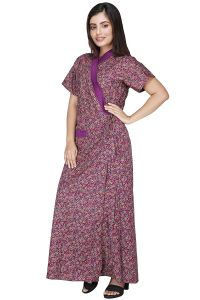 Brand: Babydoll Womens Poly Cotton Housecoat (Purple| Large)