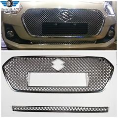 Speed 99~RPM Front Grill Chrome Cover For Maruti SWIFT 2018-20 Set Of 2 Pcs Exterior Accessories Extra Premium
