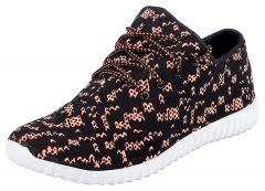Hillsvog Stylish Men's Sneakers Shoes(Pink and Black)